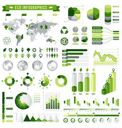 Green ecological infographics set 5 vector