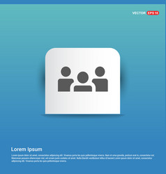 Group of people icon - blue sticker button vector
