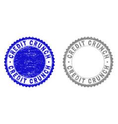 Grunge credit crunch textured stamps vector