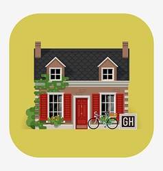Guesthouse accommodation vector