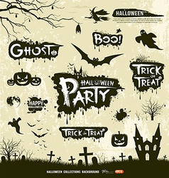 Happy Halloween collections vector