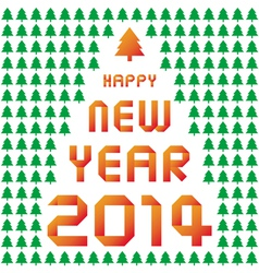 Happy new year 2014 card35 vector image