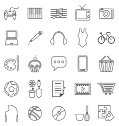 Hobline icons on white background vector