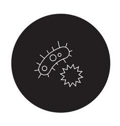 human parasites black concept icon human vector image
