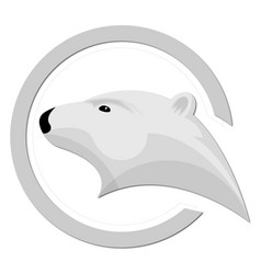 ice bear logo design vector image