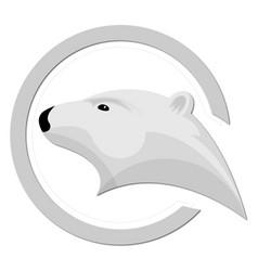 Ice bear logo design vector