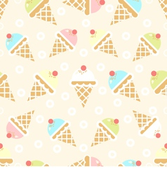 Ice cream pattern vector