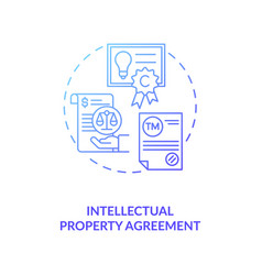 Intellectual property agreement concept icon vector