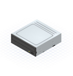 Isometric Disc Drive by ridjam vector image