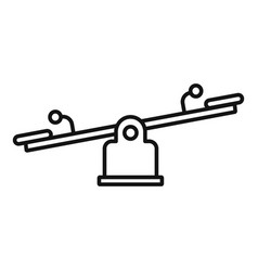 Kid balance board icon outline style vector