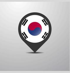 Korea south map pin vector