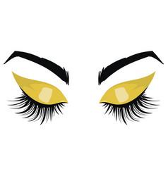logo eyelashes eyes girl with makeup vector image