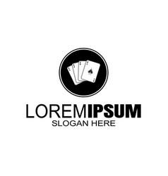 logo vintage style gladiator design template vector image