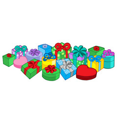 Lots of gifts vector
