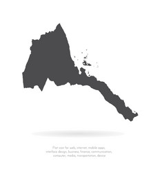 map eritrea isolated black vector image
