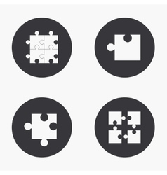 modern puzzle icons set vector image