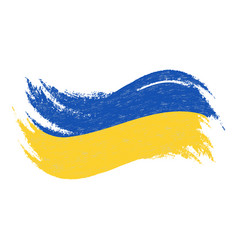 national flag of ukraine designed using brush vector image