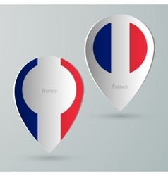 Paper of map marker for maps france vector