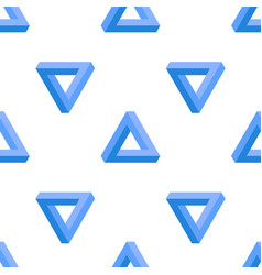 penrose triangle background vector image