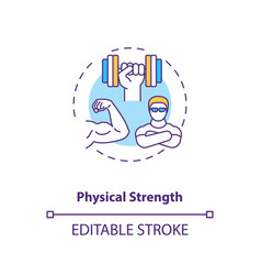 Physical strength building concept icon vector