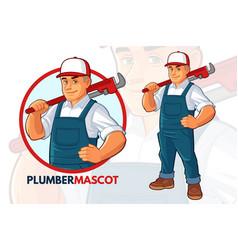 plumber mascot design vector image