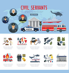 poster civil servants judge police aviation vector image