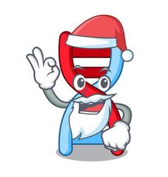 Santa dna molecule mascot cartoon vector