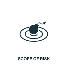 scope of risk icon creative element design from vector image