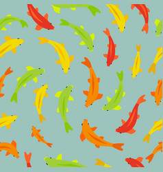 Seamless pattern with koi fish perfect for vector