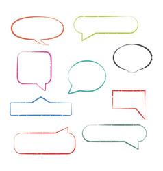set of grunge speech bubbles vector image