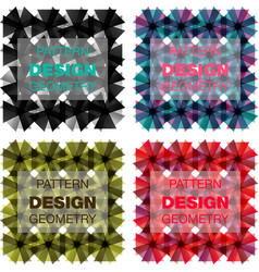 set sketched flower print in bright colors vector image