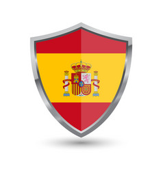shield with flag of spain isolated vector image