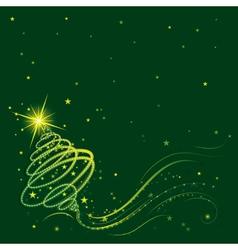 Shining christmas tree vector