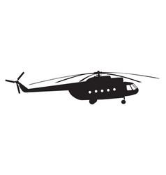 Silhouette a chopper vector
