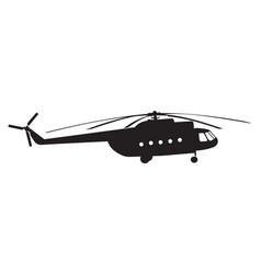 Silhouette of a chopper vector