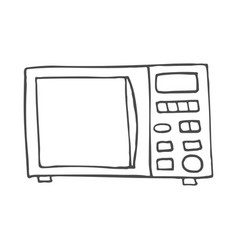 simple hand drawn doodle of a microwave vector image