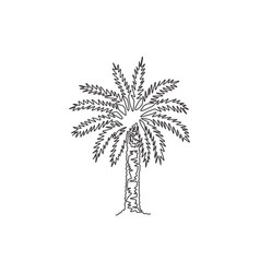 single continuous line drawing beauty and big vector image