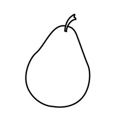 Sketch silhouette pear fruit food icon vector