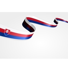 Slovak flag background vector