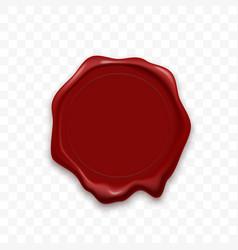 stamp wax seal sealing retro label vector image