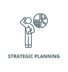 Strategic planning financial idea line vector