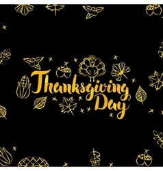 Thanksgiving Day Gold and Black Design vector
