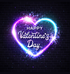 valentines day card 3d graphic realistic heart vector image