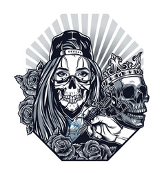 Vintage chicano tattoo concept vector