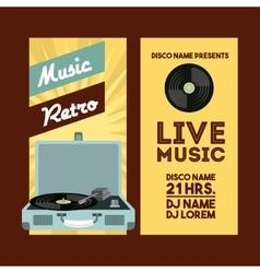Vinyl player icon Retro and Music design vector