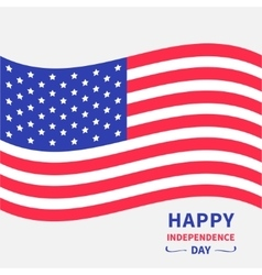 Waving American flag Happy independence day vector