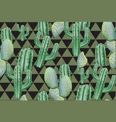 Cactus abstract pattern texture modern vector