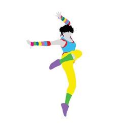 Happy Dancer Silhouette vector image vector image