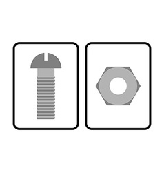 Man and Woman restroom sign Toilet sign bolt and vector image