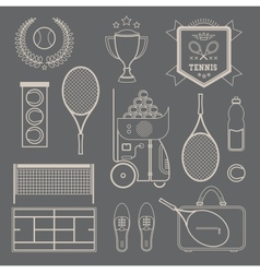 tennis icons vector image
